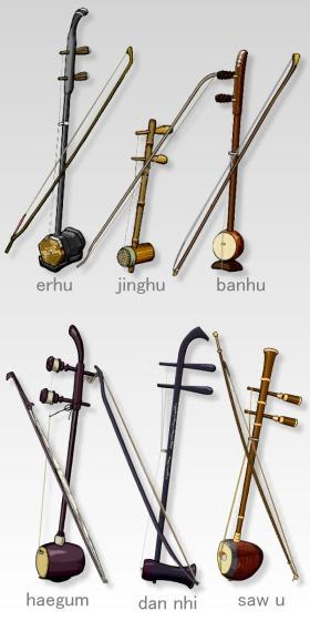 ハンマーの形をした楽器