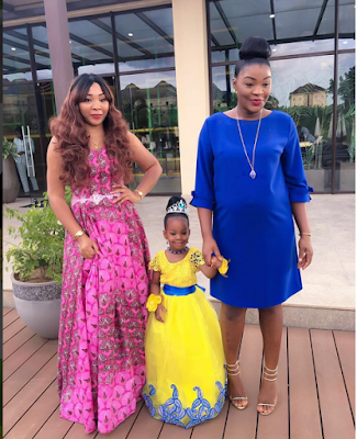 Actress Chacha Eke's Daughter Strikes A Wonderful Pose With Her
