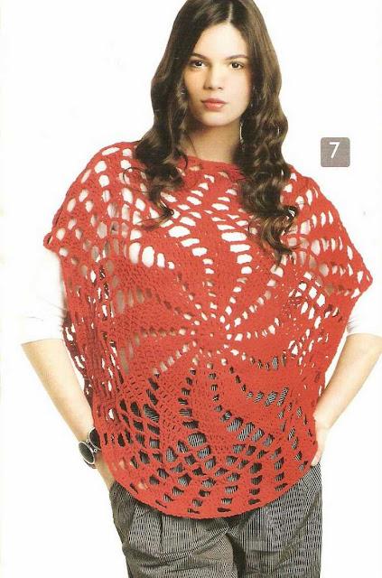 Patrón #1499: Blusa Circular a Crochet