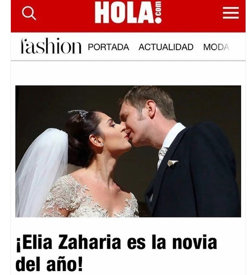 Elia Zaharia Zogu proclaimed the Bride of the Year by the Spanish Hola