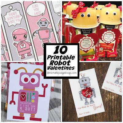Print Your Own Robot Valentines @michellepaigeblogs.com