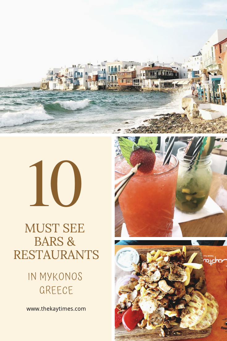 Restaurants and bars in Mykonos Greece