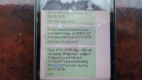 Alhamdulillah    Jimat Bayar Bil Telefon untuk bulan Depan