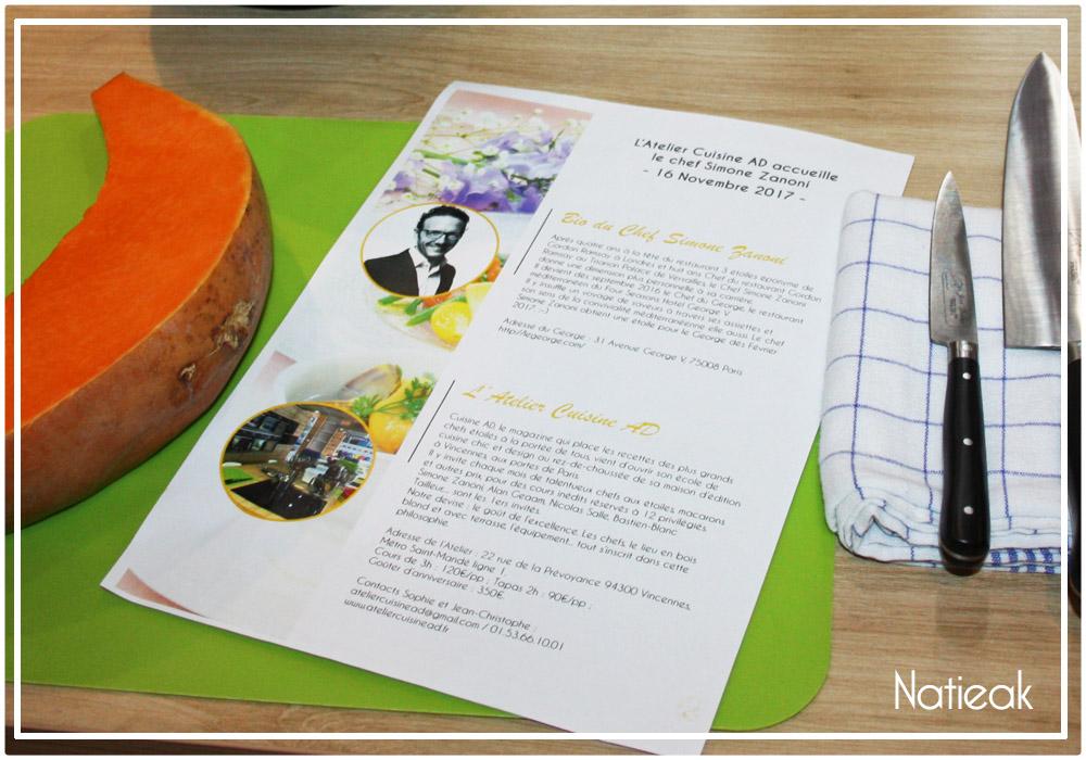atelier culinaire  Simone Zanoni