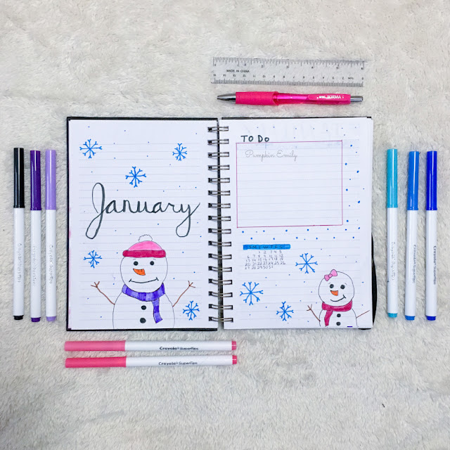 January 2019 Bullet Journal Setup