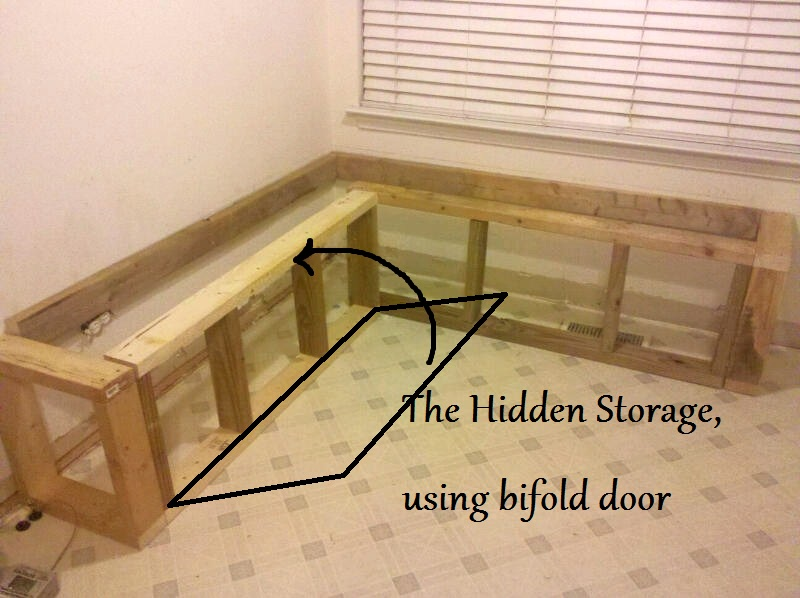 Building A Banquette From Bifold Closet Doors Mom And