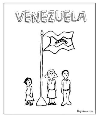 colorear Bandera de Venezuela con niños