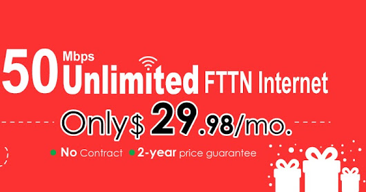 50M FTTN Internet Boxing Day Sale 2017 -Great Deal This Week