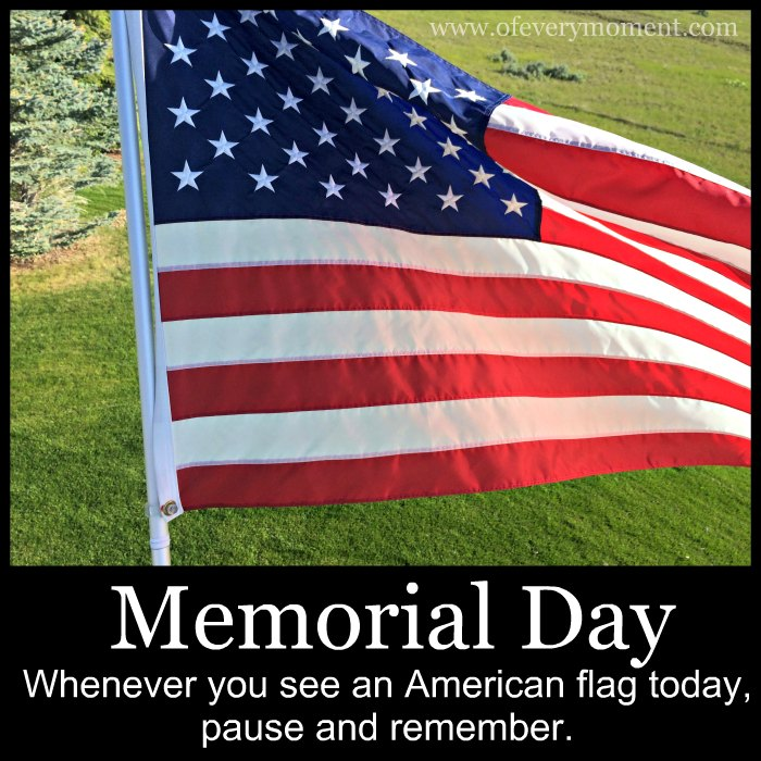 Many American flags will fly on Memorial Day.