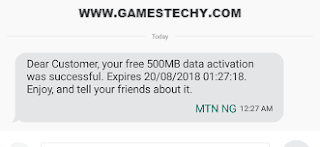 Awoof!!! Get 500MB MTN Free Data By Downloading MyMTN App