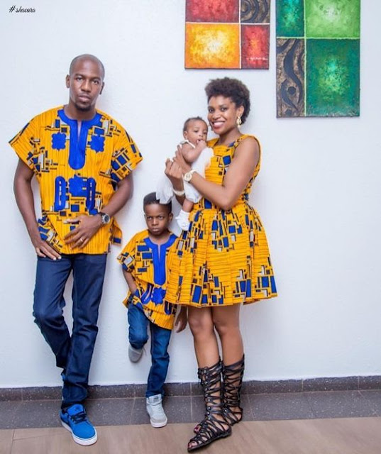 matching african outfits for family, latest african ankara styles for family, parents and kids ankara styles and designs, trendy ankara designs and styles for family, Beautiful Family Ankara Styles