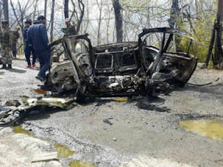 thetimesofhindustan.in J&K: Car blast on Jammu-Srinagar highway near Banihal