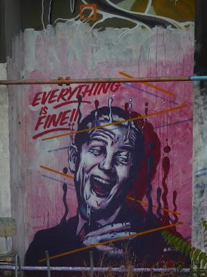 "Graffiti, Berlin ""Everything is fine"""