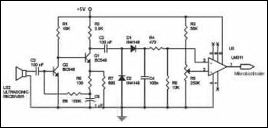 Ultrasonic Wave Receiver Circuit