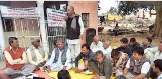 ग्राम महावा में अवैध खनन व भूमि अधिग्रहण के विरोध में ग्रामीणों की सभा आयोजित