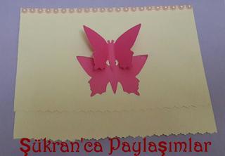 Kelebekli Tebrik kartı