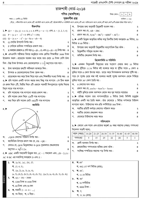 RB SSC Math Question 2014