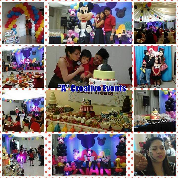 Mickey Mouse and Minnie Mouse birthday party theme davao city