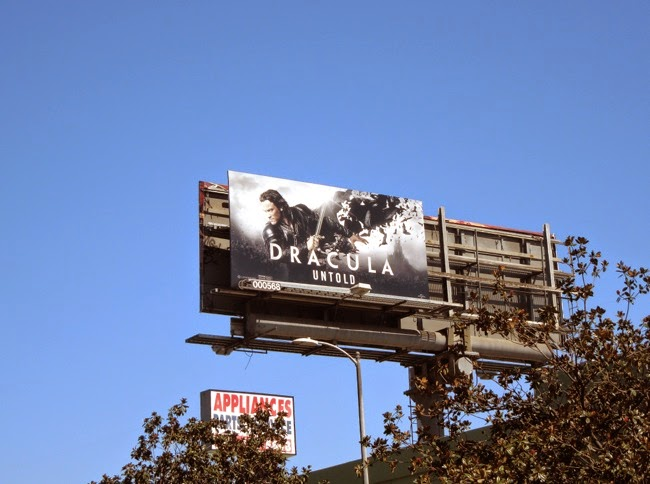 Dracula Untold movie billboard
