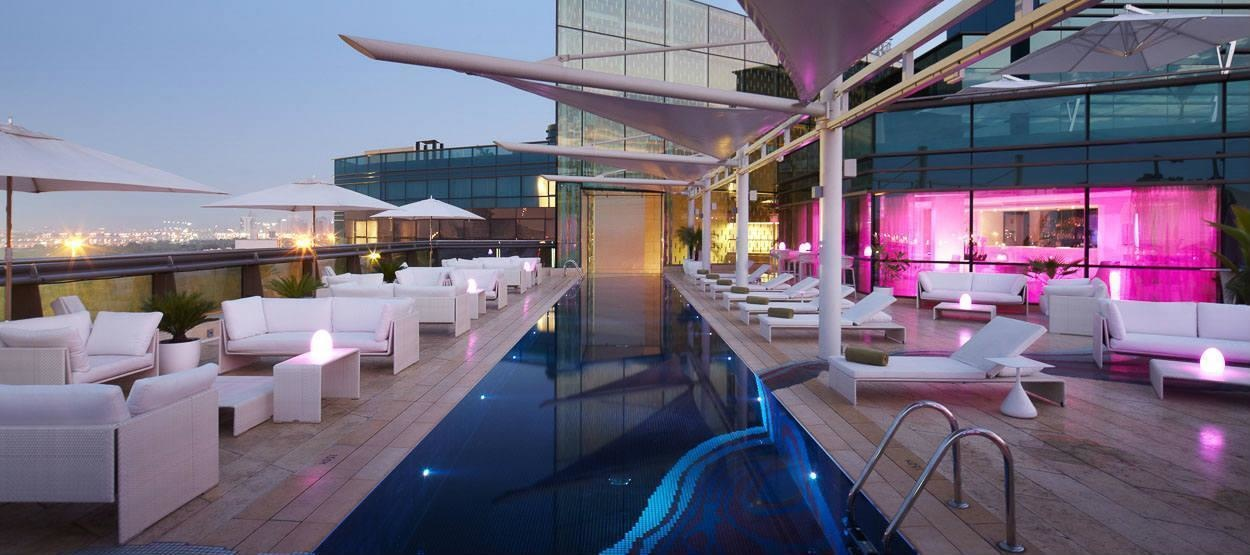 The World's 30 Best Rooftop Bars… Everyone Should Drink At #9 At Least Once. - The Cu-ba is part of Jumeirah Creekside Hotel in Dubai, United Arab Emirates.
