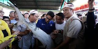 Sandiaga bertemu nelayan Indramayu
