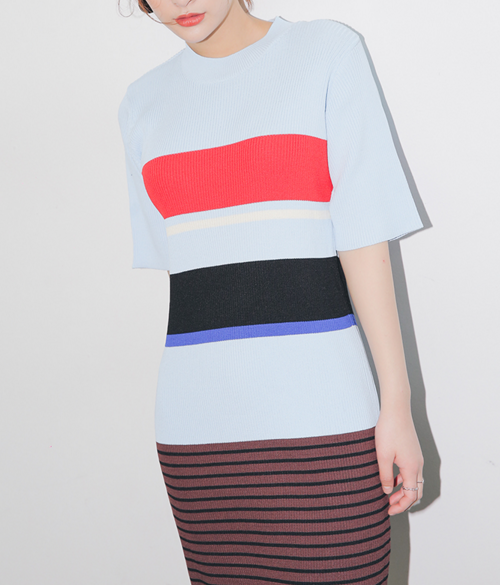 Multicolored Stripe Pattern Dress