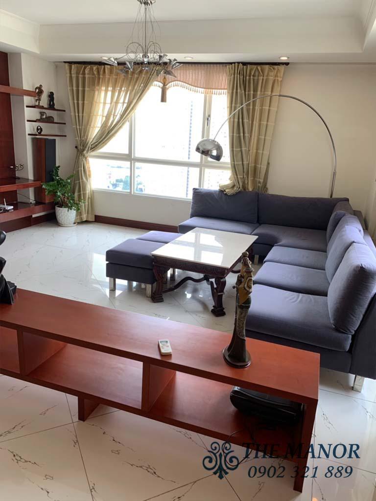 Bán căn hộ 3 phòng ngủ Manor quận Bình Thạnh 160m2 tầng cao giá 6,6 tỷ - 2