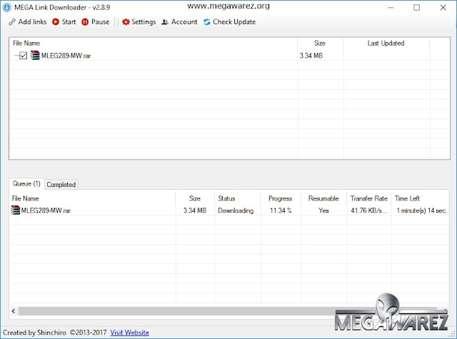 MEGA Link Downloader v2.8.9 imagenes