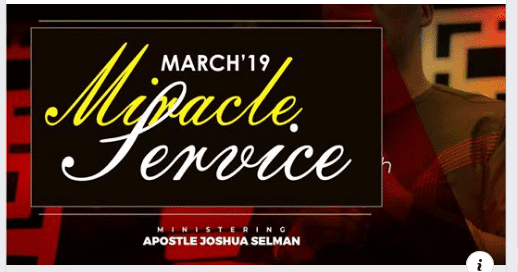 March 2019 Miracle Service with Apostle Joshua Selman [Koinonia Sermons]