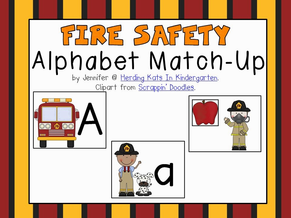 https://www.teacherspayteachers.com/Product/Fire-Safety-Themed-Alphabet-Match-Up-1477306