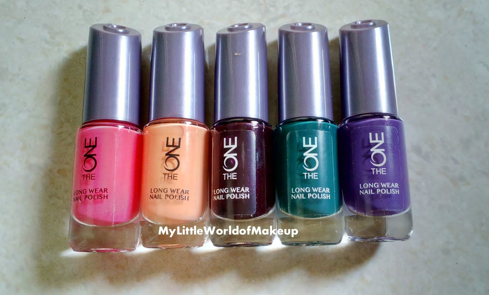 New **The One Long Wear Nail Polishes by Oriflame with Nail Swatches