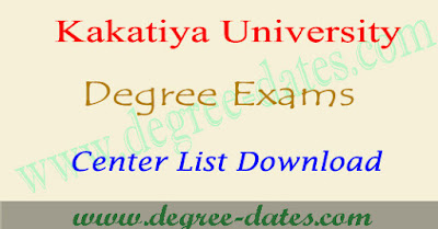 Kakatiya University degree ug annual exam center list download 2017