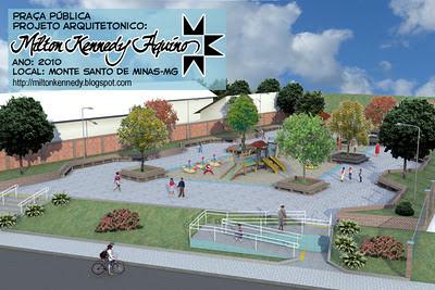 Projeto de praça Monte Santo de Minas