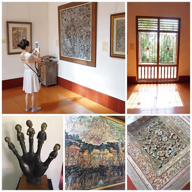foto karya seni di neka art museum ubud