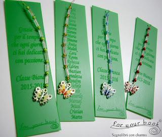segnalibri personalizzati regalo insegnanti farfalla