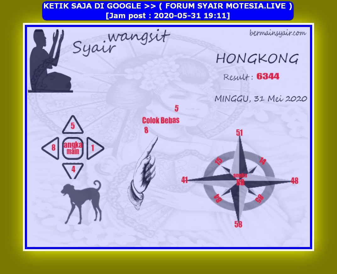 Kode syair Hongkong Minggu 31 Mei 2020 121