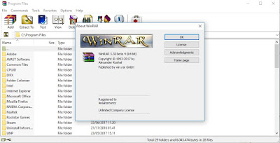 Screenshot WinRAR 5.50 Beta 4