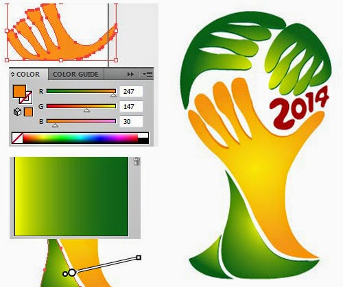 Design Tutorial - FIFA World Cup 2014 Logo