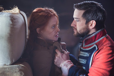 Evan Jonigkeit and Zoe Boyle in Frontier Series (8)