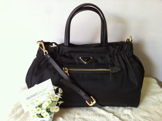 9628c55fc0 I Want Bags backup: Prada B1843M Tessuto Nylon Bag-Nero