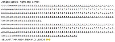 kode wa lemot