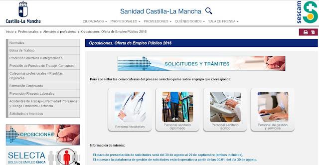 http://sescam.castillalamancha.es/profesionales/atencion-al-profesional/oferta-de-empleo-publico