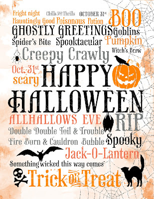 Halloween Subway Art Printable from All I Create.