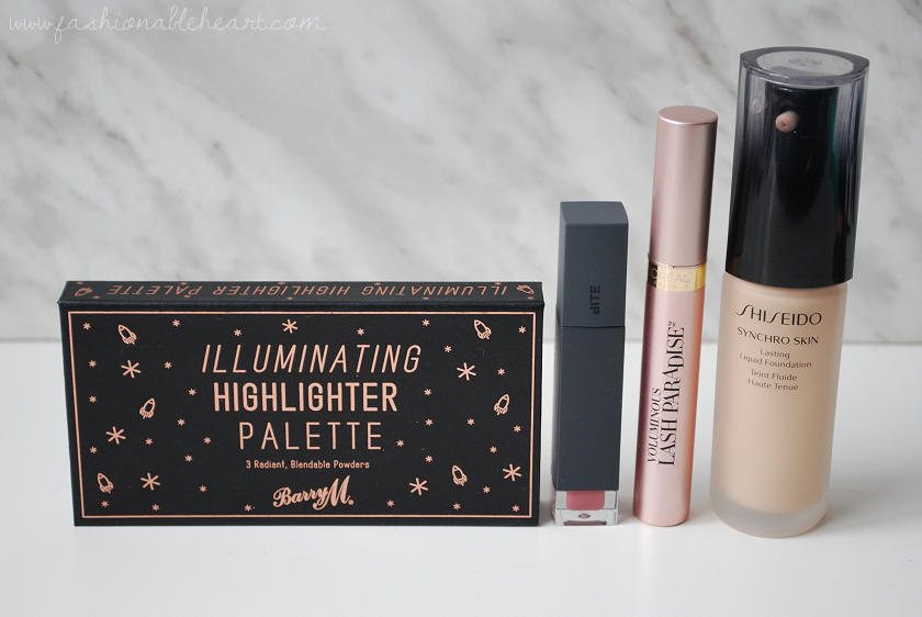 bbloggers, bbloggersca, canadian beauty bloggers, beauty blog, skincare, makeup, beauty, faves, favorites, 2017, l'occitane, loccitane, almond oil, shower oil, coty airspun powder, seche vive, gel, topcoat, barry m, highlight palette, pixi, hydrating milky mist, shiseido, synchro skin foundation, l'oreal, lash paradise, mascara, tarte, amazonian clay blush, paaarty, mufe, make up for ever, makeup forever, full cover, concealer, vichy, aqualia thermal, light cream, maybelline, instant age rewind, bite beauty, amuse bouche, liquified lipstick, eclair