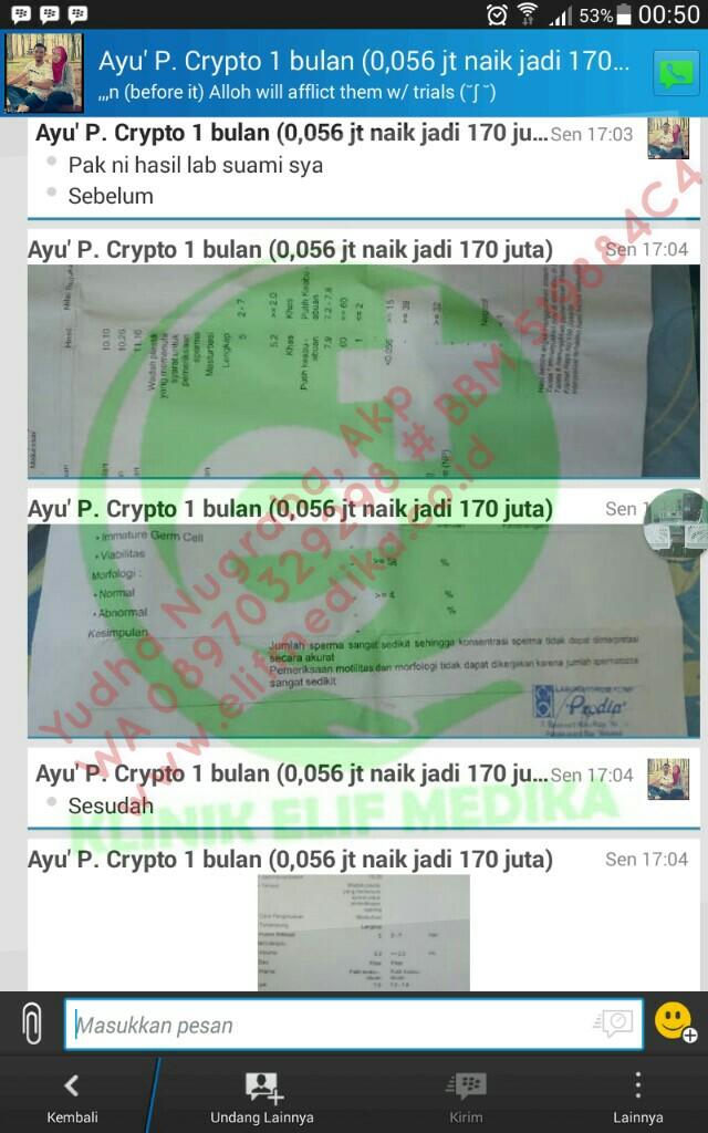 Testimoni Cryptozoospermia