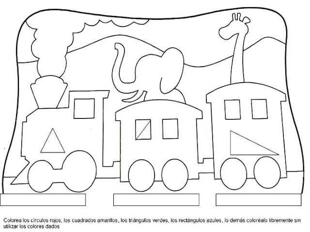 Figuras Geométricas -Dibujos para colorear | Ciclo Escolar