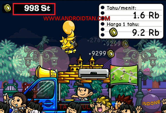 Free Download Tahu Bulat Mod Apk v9.2.0 Unlimited Money Android Terbaru 2018