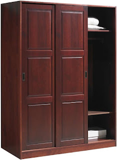 Sliding Door Wood Wardrobe