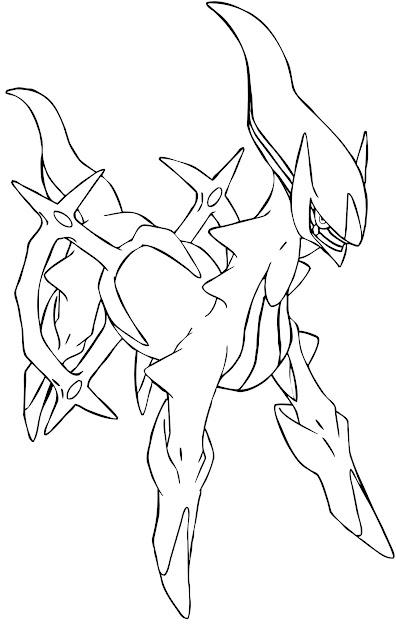 Arceus Legendary Pokemon Coloring Pages