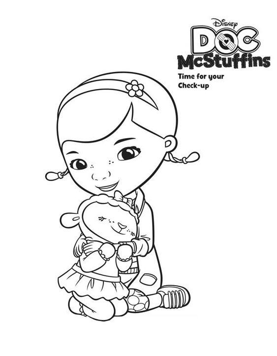 Tranh tô màu bác sĩ Doc Mcstuffins 09